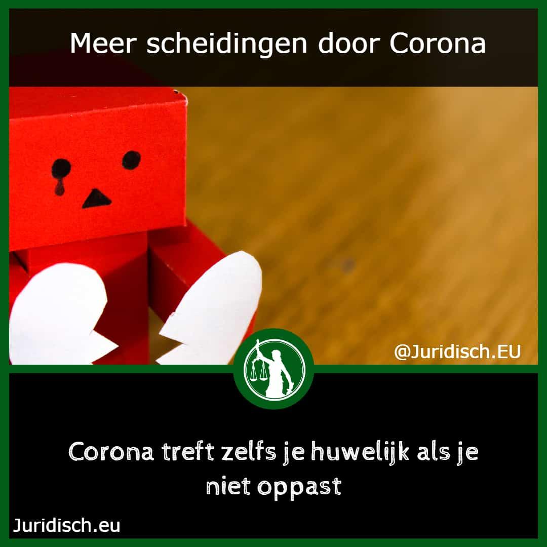 Scheiding door Corona