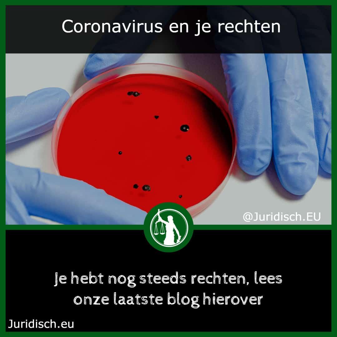 Coronavirus en je rechten