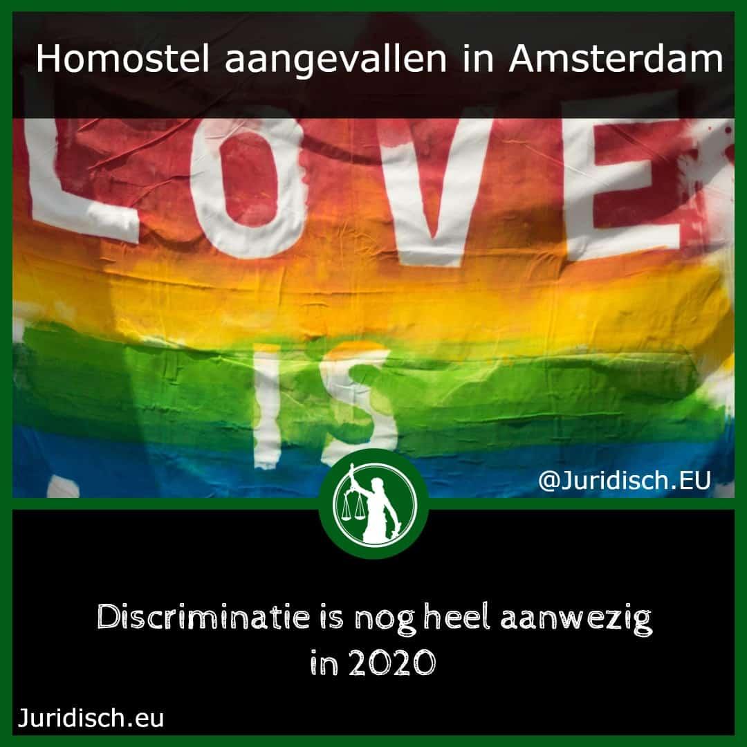 Homostel aangevallen in Amsterdam
