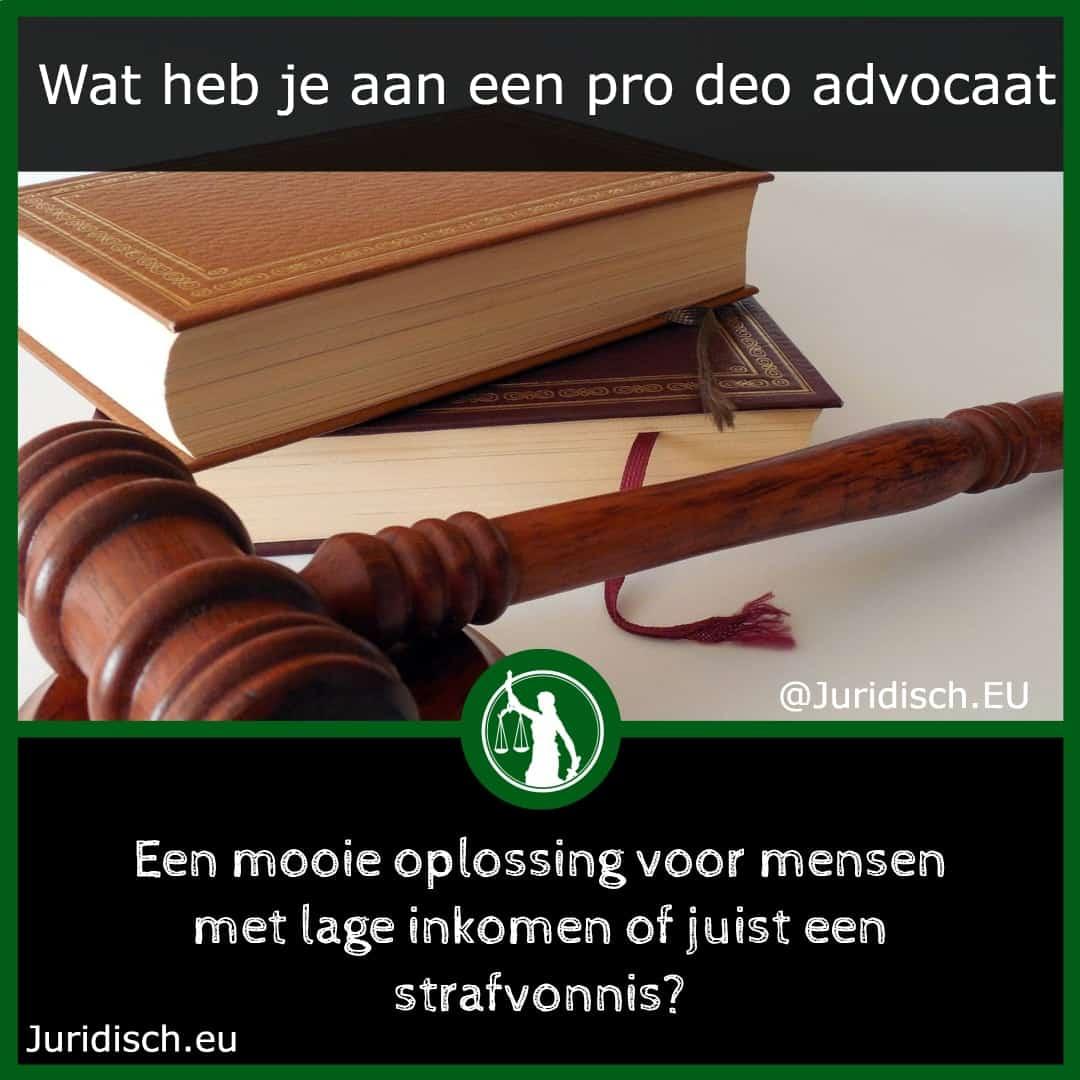 wat is een pro deo advocaat