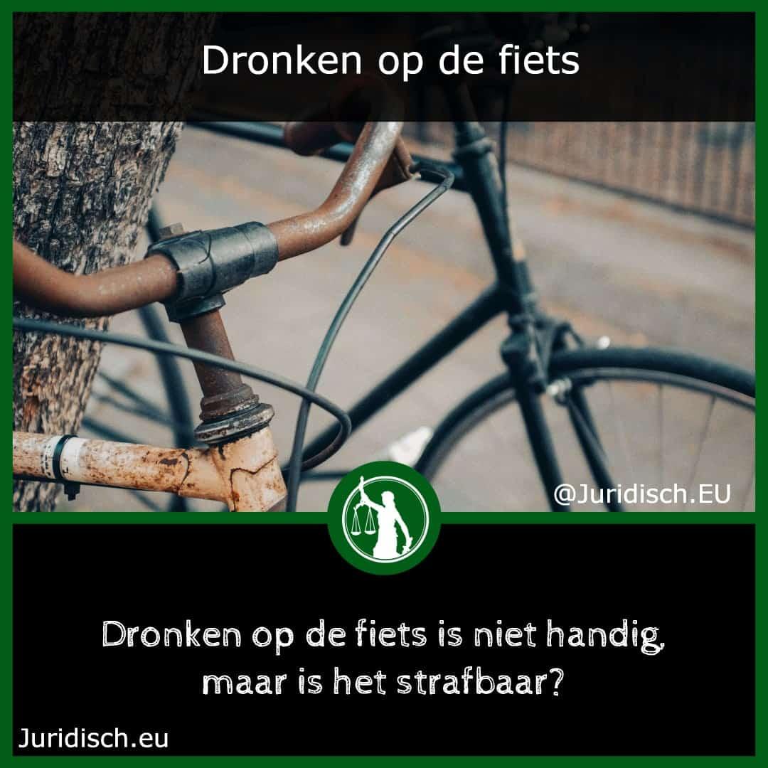 Dronken op de fiets